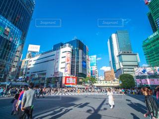 渋谷駅 スクランブル交差点の写真・画像素材[1172411]