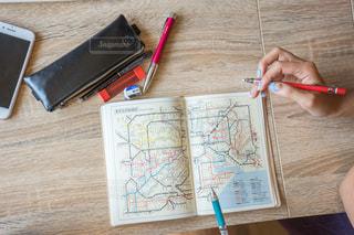 路線図 旅行 計画の写真・画像素材[1328543]