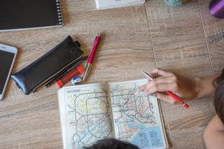 路線図 旅行計画の写真・画像素材[1328546]