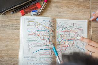 路線図 旅行計画の写真・画像素材[1328547]