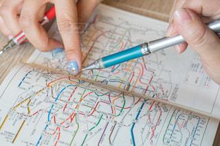 地図 旅行計画の写真・画像素材[1328718]