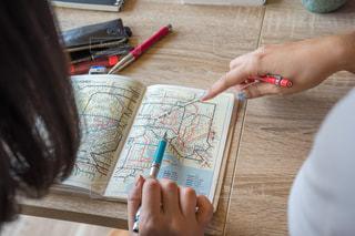 路線図 旅行計画の写真・画像素材[1328740]