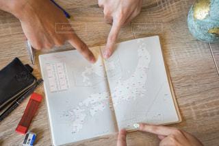 机 旅行計画 北海道 沖縄の写真・画像素材[1339764]