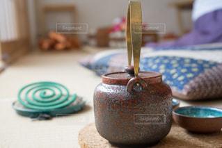 和室 急須 お茶の写真・画像素材[1339848]