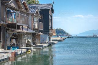 京都の伊根町の舟屋の写真・画像素材[1385496]