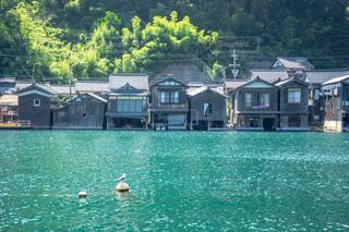 京都の伊根町の舟屋の写真・画像素材[1385502]