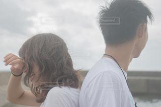 男と女のカメラデート失恋の写真・画像素材[1457183]