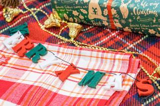 カラフルなブランケット メリークリスマスの写真・画像素材[1668534]
