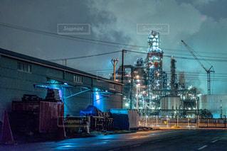 川崎の工場夜景の写真・画像素材[1846766]