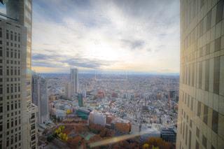 東京都庁からの夕陽の写真・画像素材[1846834]