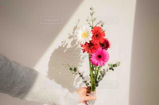 ピンクの花でいっぱいの花束の写真・画像素材[2097786]
