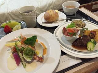 産婦人科の豪華な食事の写真・画像素材[1397357]