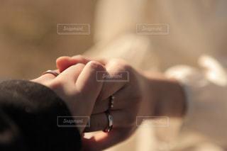 手を繋いでの写真・画像素材[1590499]