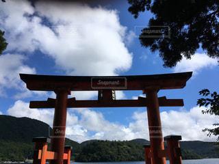 芦ノ湖の鳥居。箱根神社。の写真・画像素材[922009]