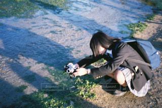 ヤドカリを撮るの写真・画像素材[1804630]