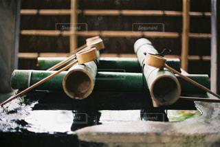 木製テーブルの写真・画像素材[754272]