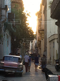 夕暮れのハバナの写真・画像素材[820415]