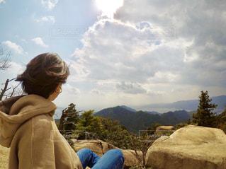 弥山からの眺めの写真・画像素材[1124751]