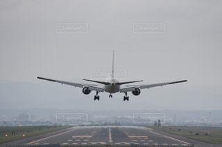航空機着陸、旭川空港にての写真・画像素材[2207859]
