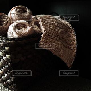 シックなピンクのアラン模様の写真・画像素材[618067]