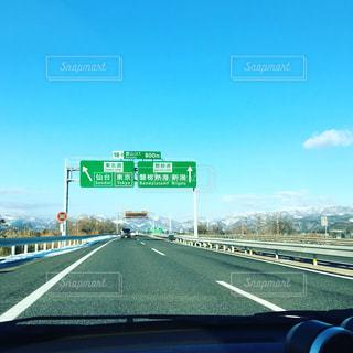 高速道路上の標識の写真・画像素材[736083]
