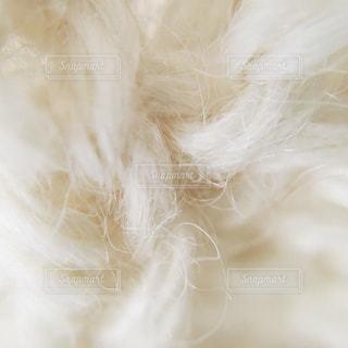 白のアルパカ毛糸 - No.736824