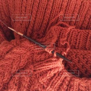 手編みのセーターの写真・画像素材[1206695]
