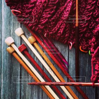 手編みのセーターの写真・画像素材[1224700]
