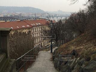 チェコの丘からの写真・画像素材[620234]
