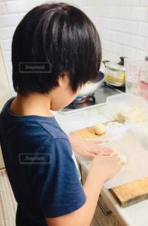 肉まん手作り中♪の写真・画像素材[2029059]