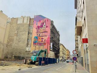 ハンガリー ブダペストの工事現場&落書き🇭🇺の写真・画像素材[2098197]