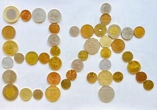 4か国の通貨で作成した「日本」の写真・画像素材[3524979]