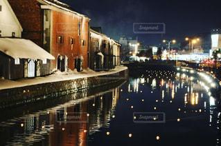 冬の小樽運河の写真・画像素材[1657432]