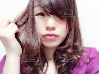 長い髪の女性のアップ - No.1060518
