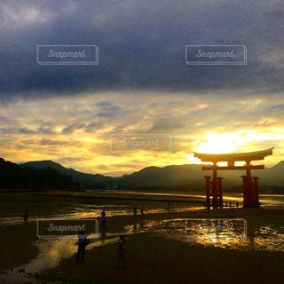 夕日の写真・画像素材[621077]