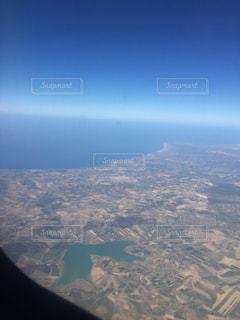 シチリア島、飛行機、絶景の写真・画像素材[621220]