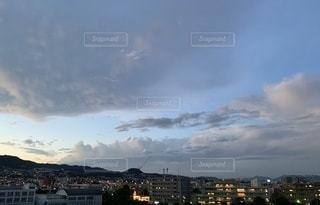 日没時の眺めの写真・画像素材[3503661]