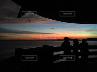 渡嘉敷島のサンセットの写真・画像素材[743868]