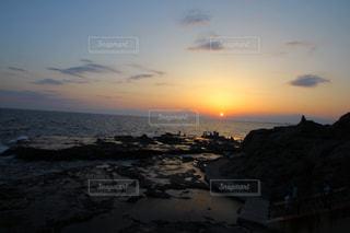 江ノ島の夕日の写真・画像素材[1183141]