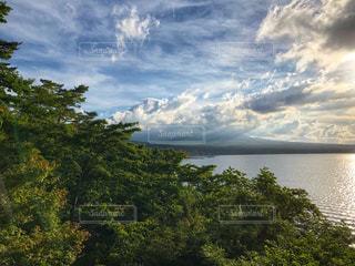 山中湖からの富士山の写真・画像素材[1328862]