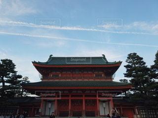 大きな赤い建物 平安神宮の写真・画像素材[2702885]