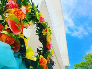 色とりどりの花の花瓶の写真・画像素材[1016527]