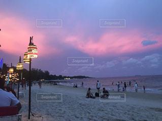 ビーチの夕暮れの写真・画像素材[625674]