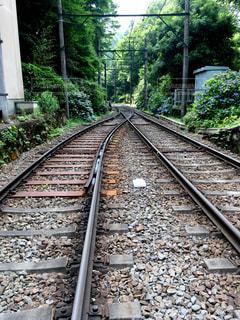 線路は続くよどこまでもの写真・画像素材[990343]