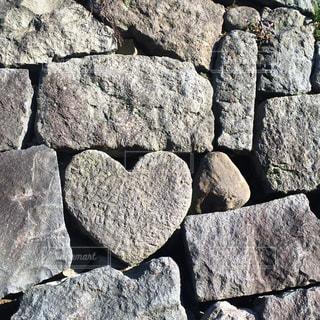 眼鏡橋のハート石の写真・画像素材[632533]