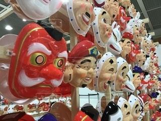 お祭りのお面の写真・画像素材[2244902]