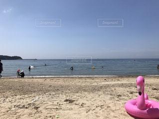近くの砂浜のビーチの写真・画像素材[844594]