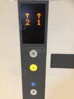 エレベーターのボタンの写真・画像素材[1517930]