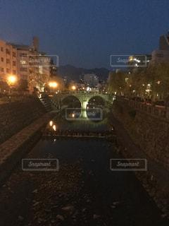 夜の眼鏡橋の写真・画像素材[2360230]