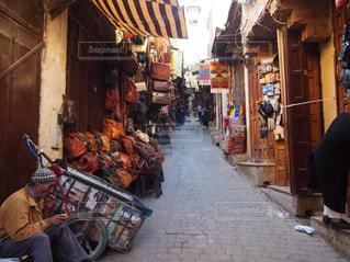 モロッコ フェズの街並みの写真・画像素材[1451578]